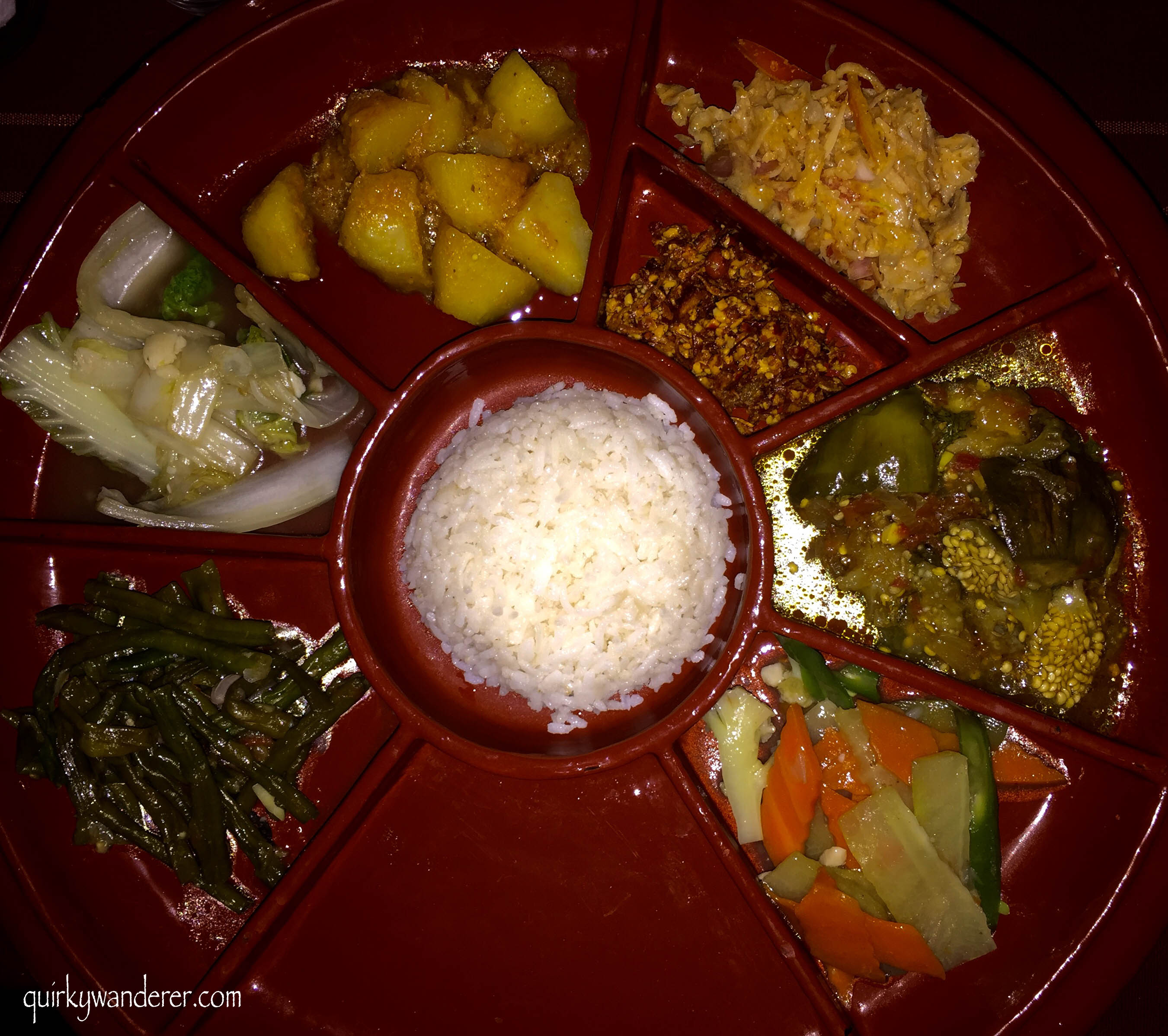 Authentic Burmese thali
