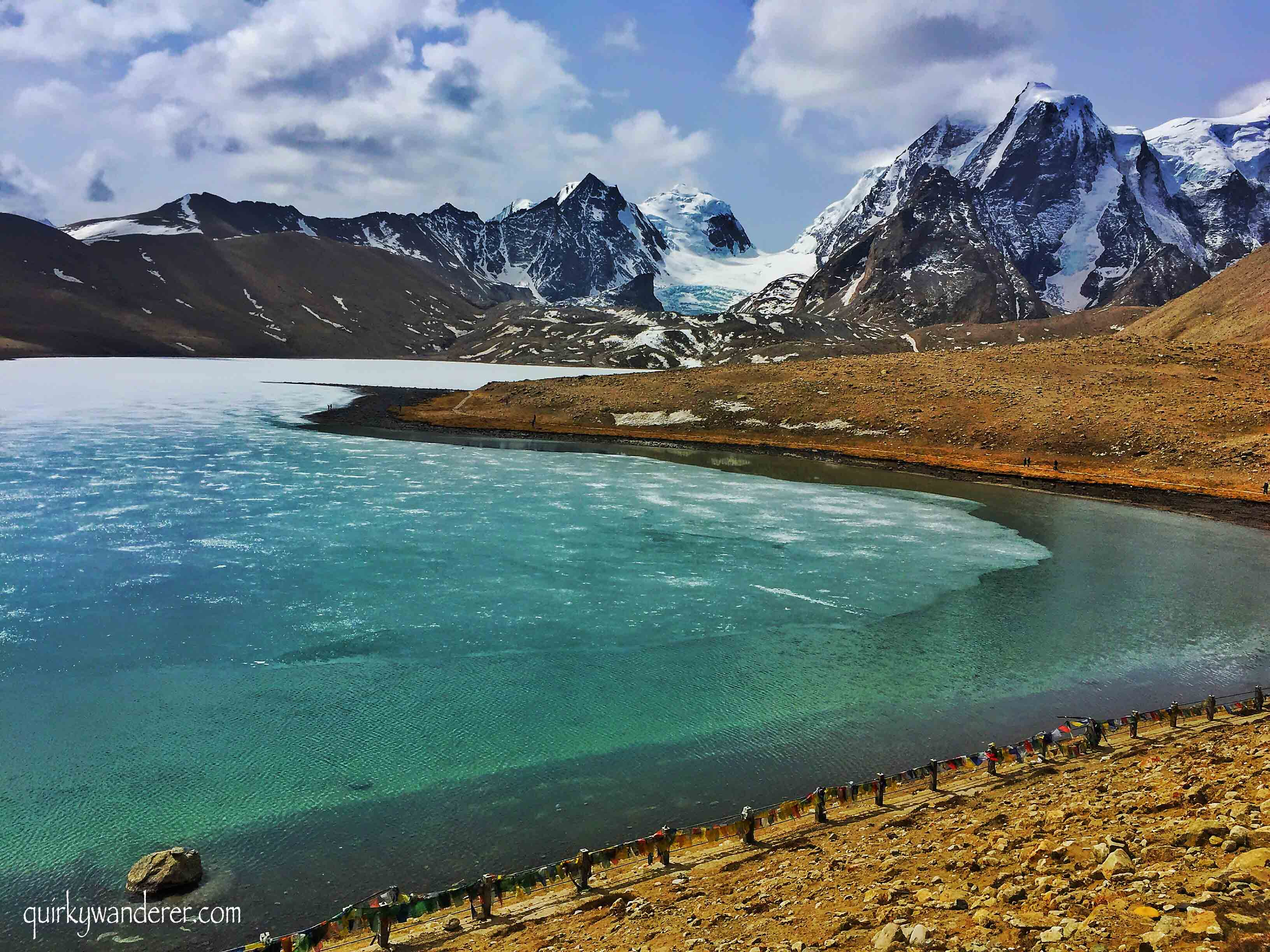 The frozen Gurudongmar lake sikkim