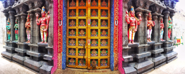 Colourful doors in India