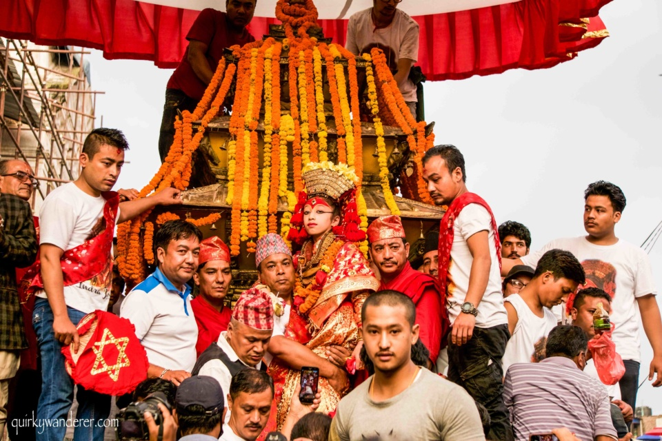 chariot procession in kathmandu
