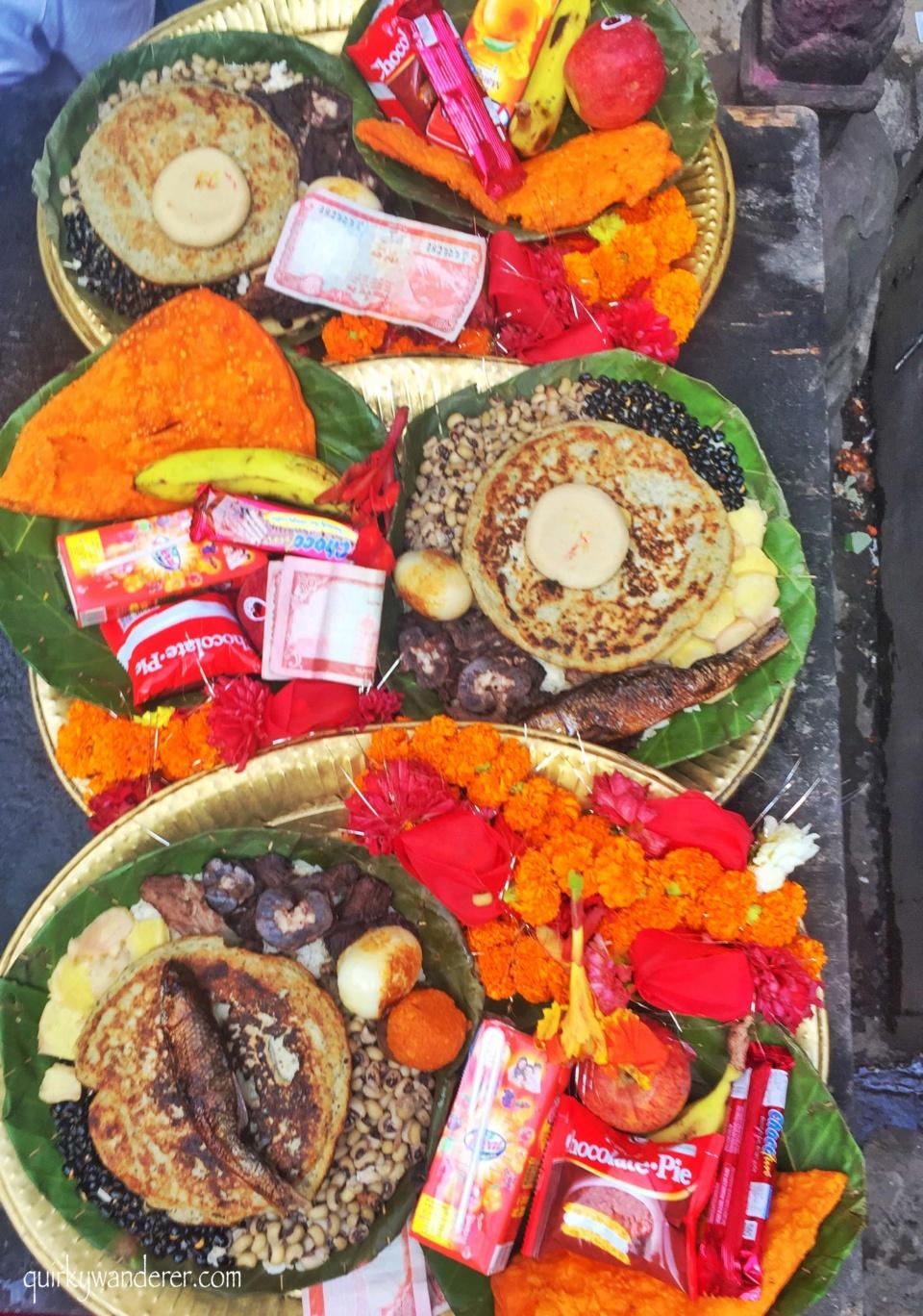 Kumari festival offerings