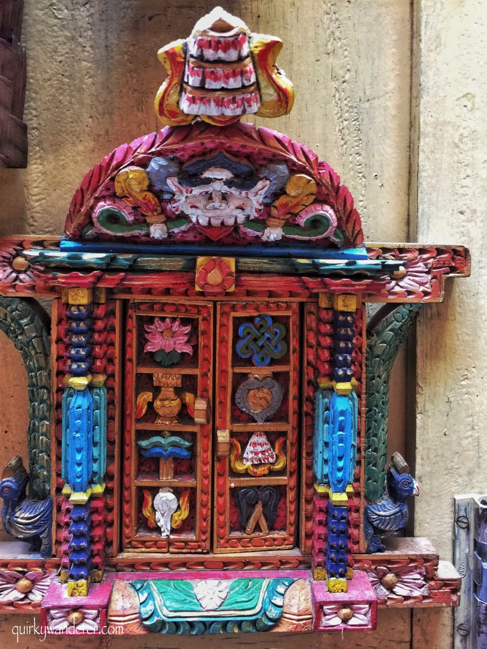 Painted handicrafts in Nepal