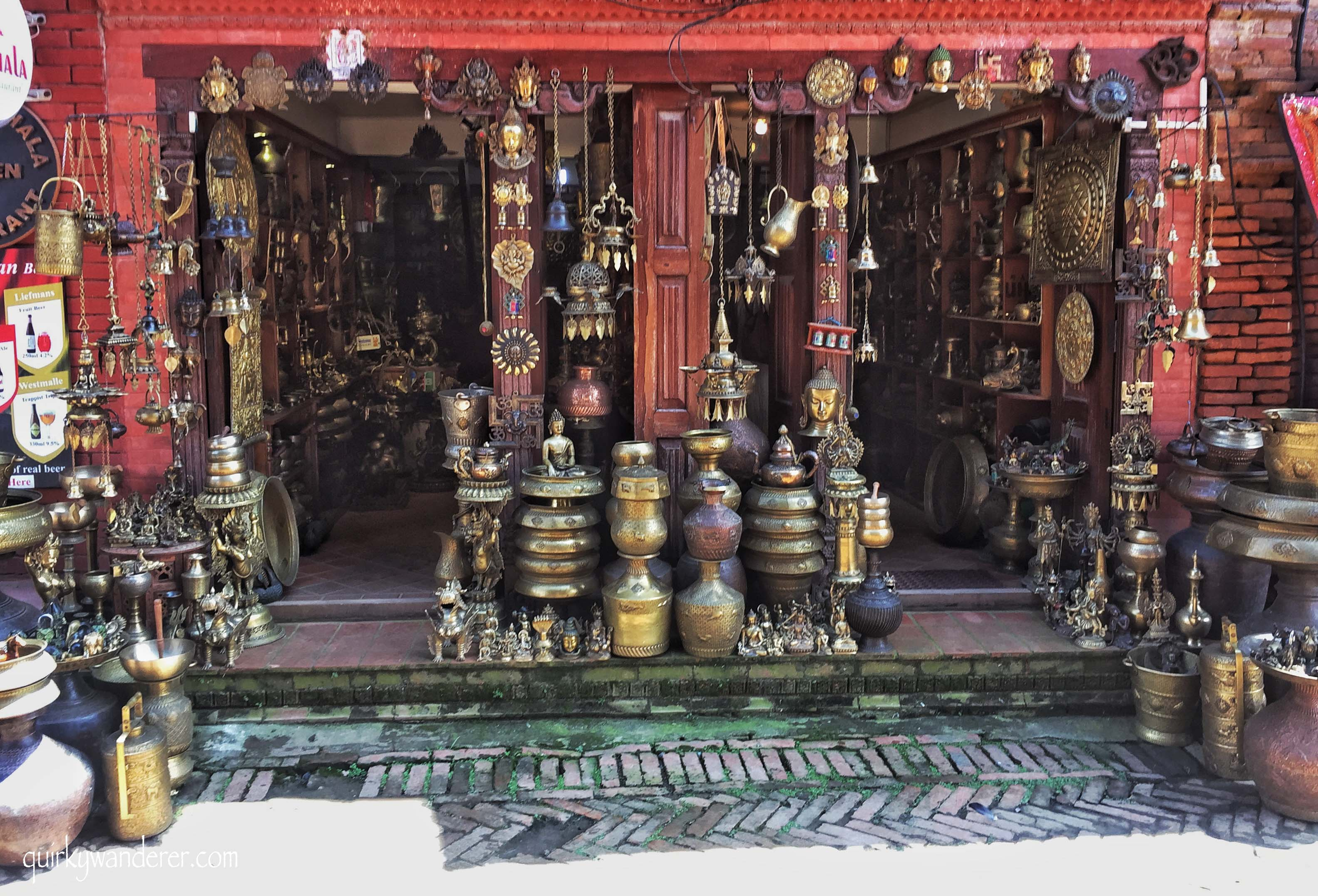 Brass handicrafts in Nepal