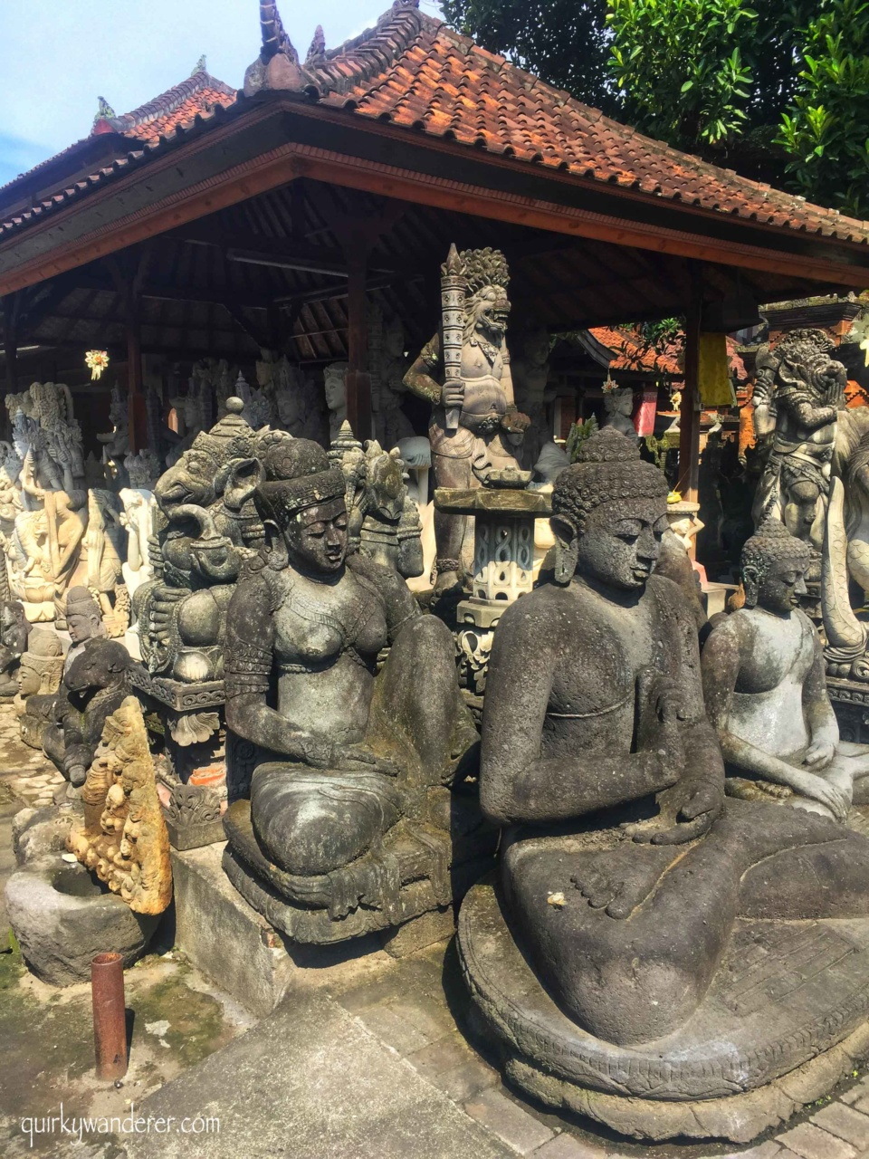 balinese stone statues