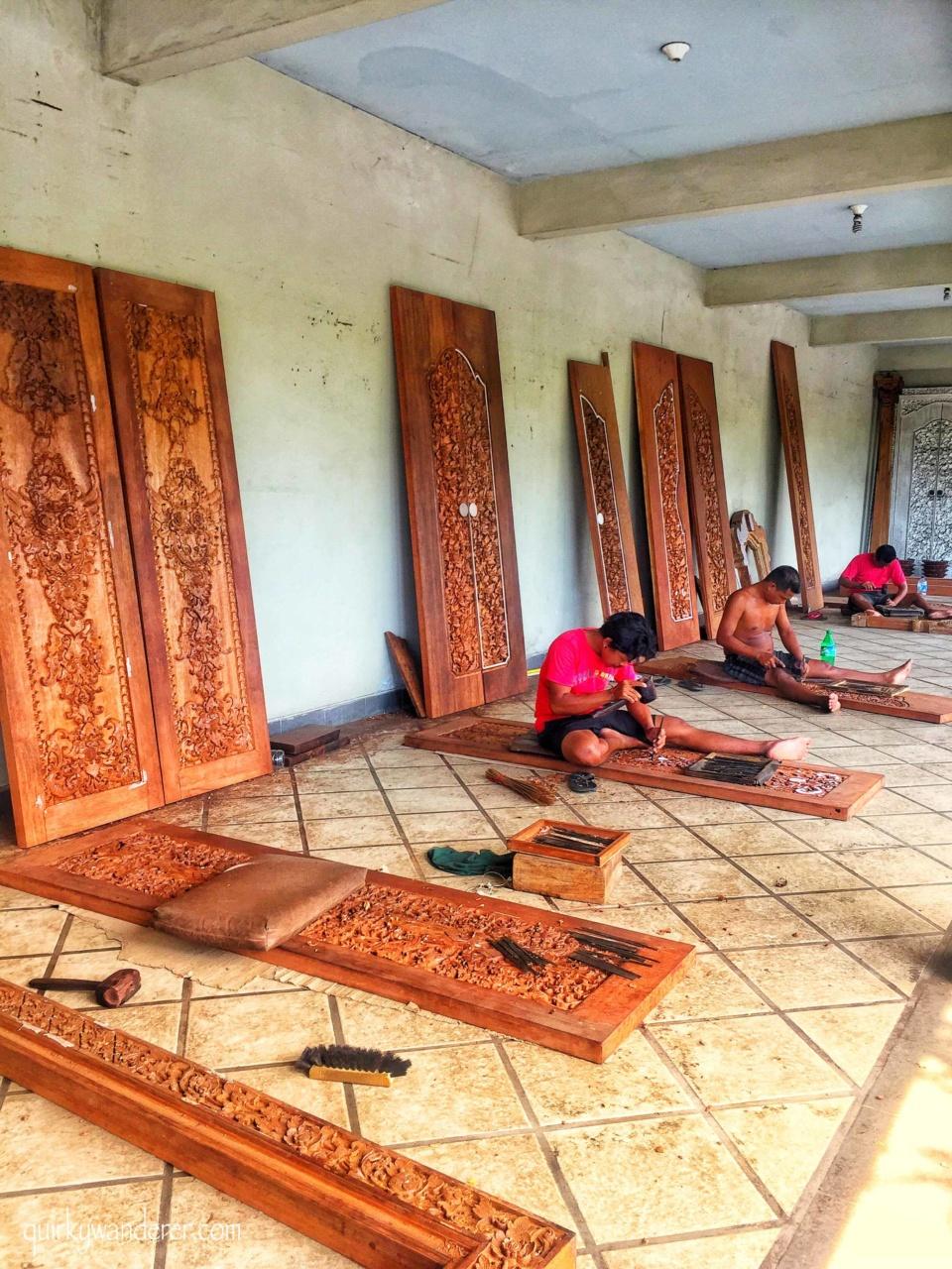 Wood work of Batu Bulan