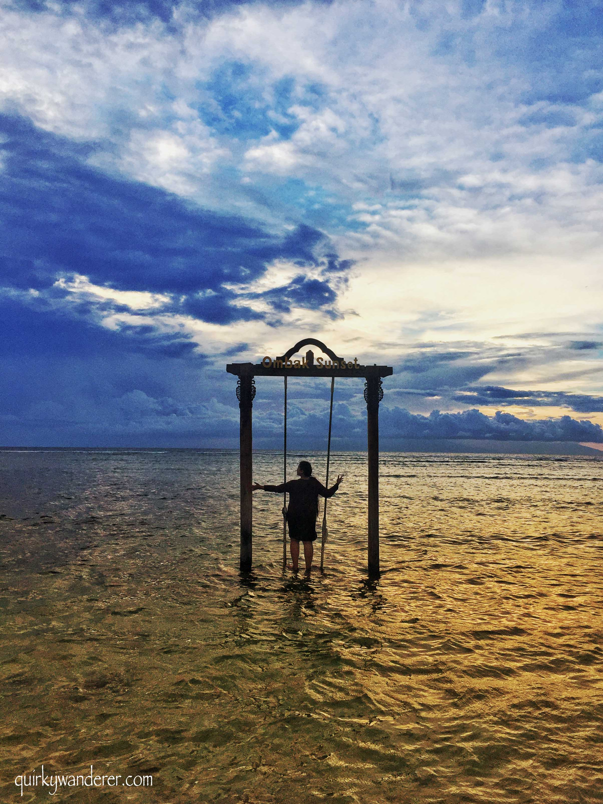 Swings at Gili Trawangan