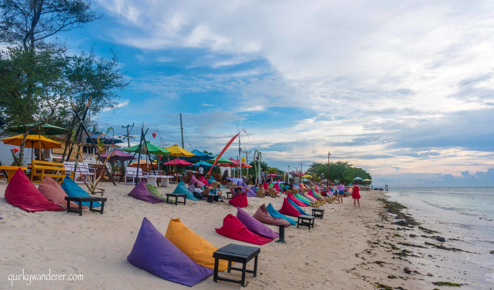 cafes at Gili Trawangan