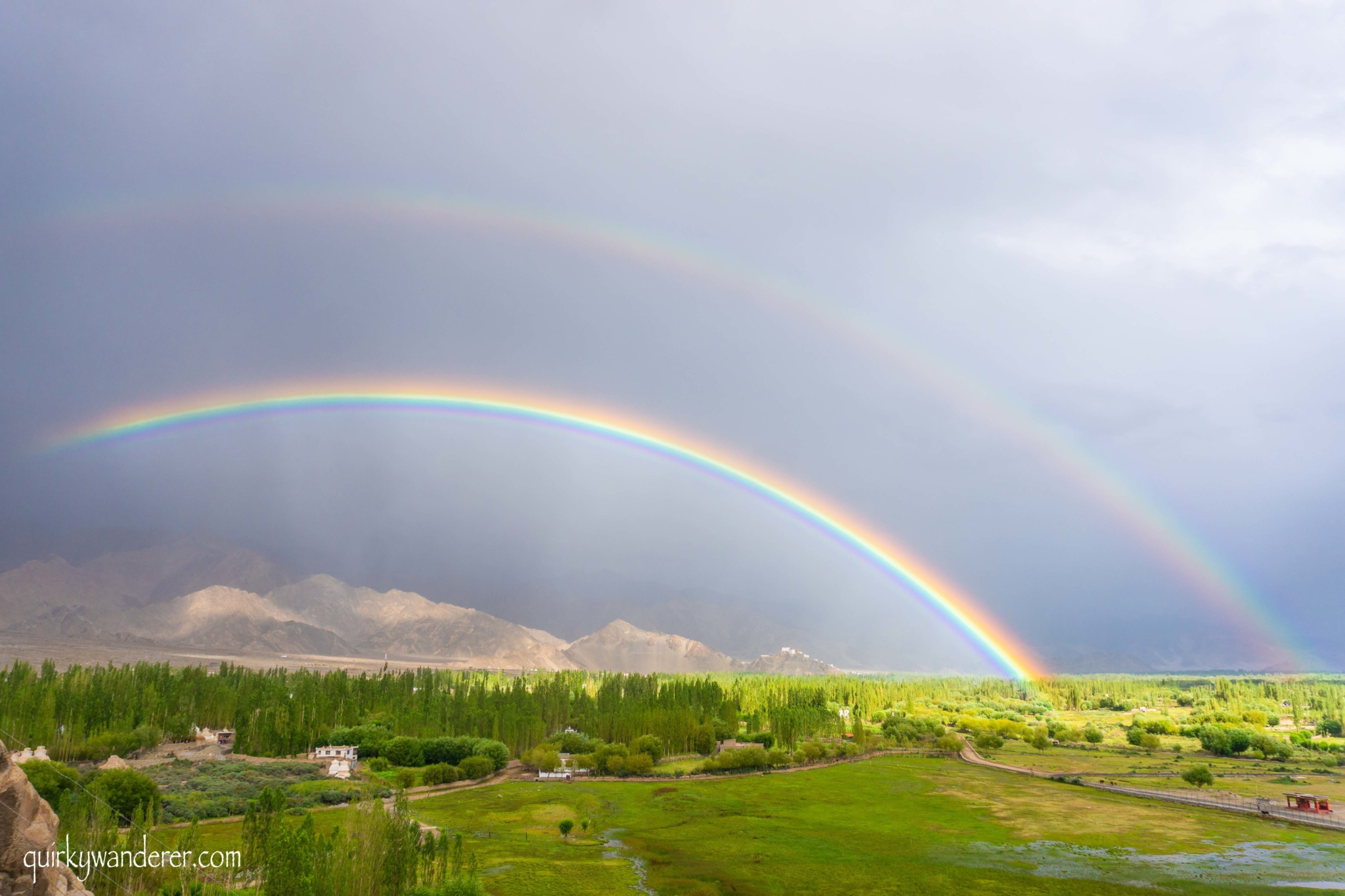 Double Rainbow in Leh