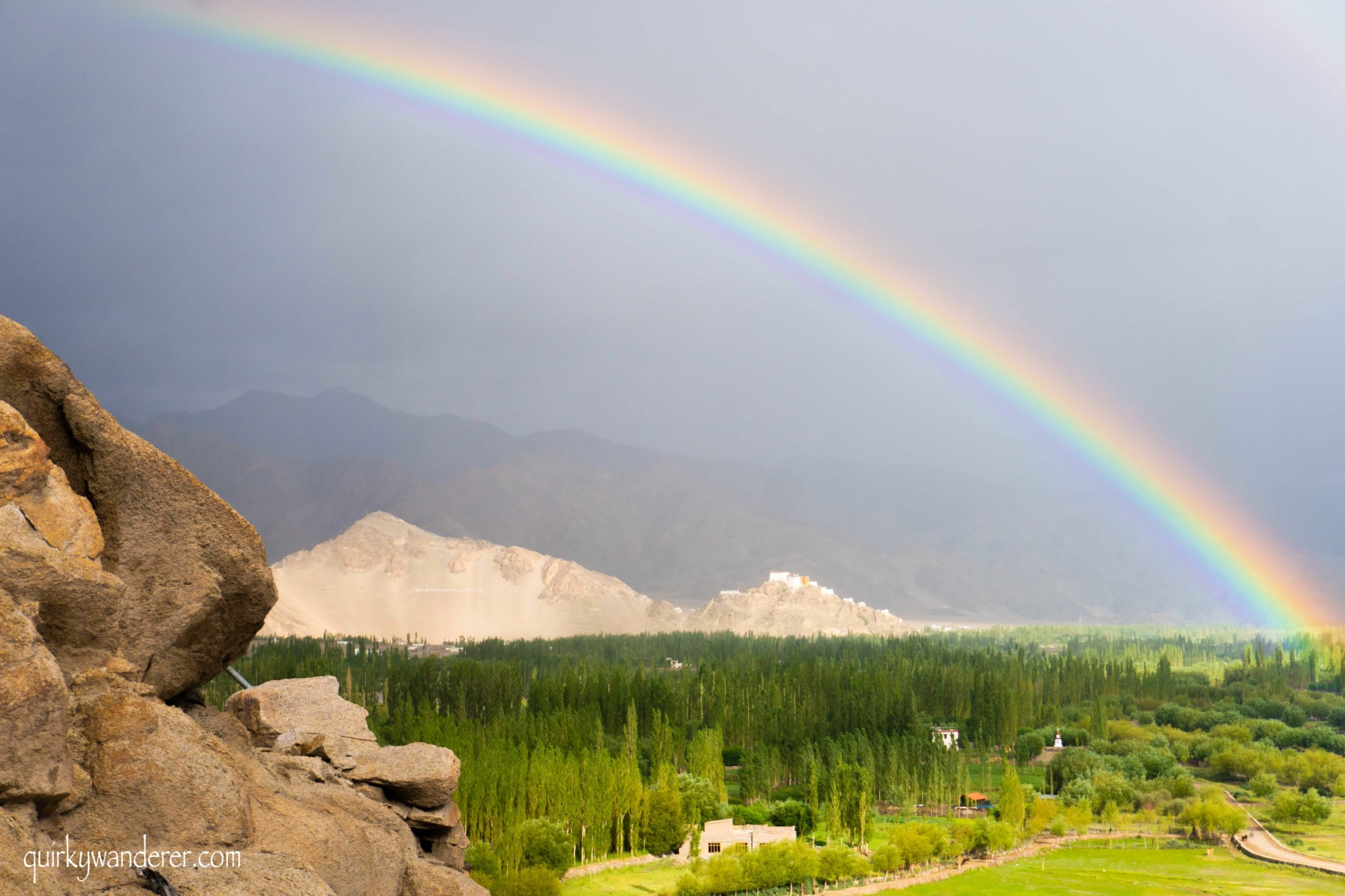 Rainbow in Leh, Ladakh.