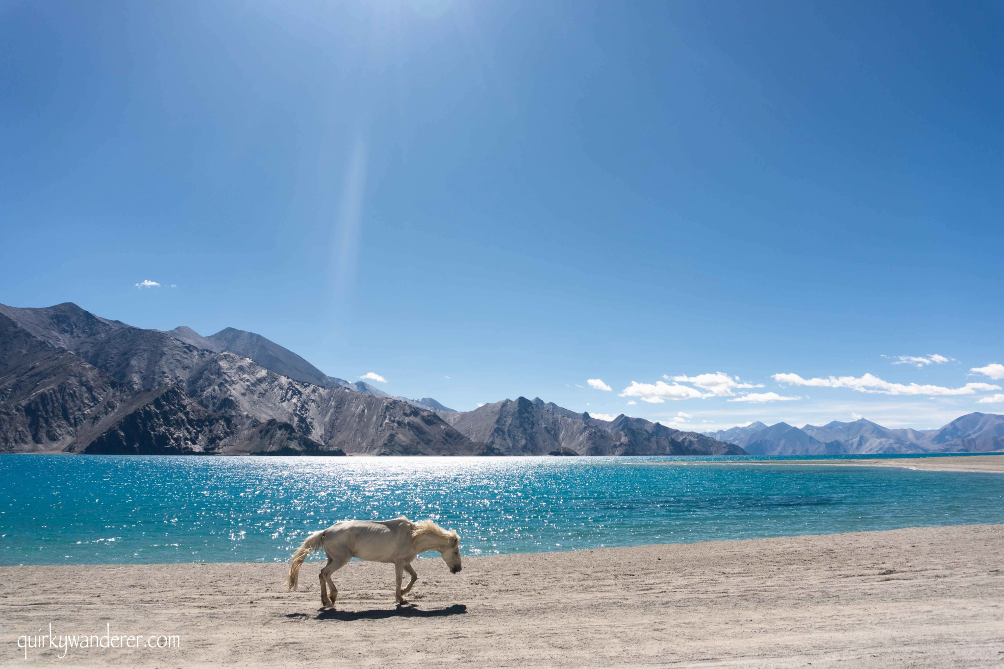 The route from Pangong lake to Hanle
