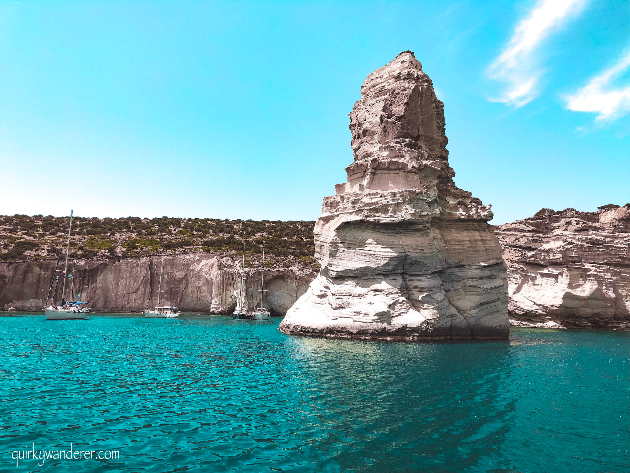 sailing trips around Milos