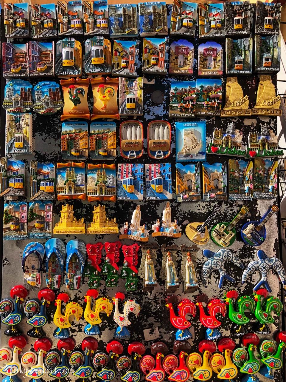 Fridge magnets in Lisbon