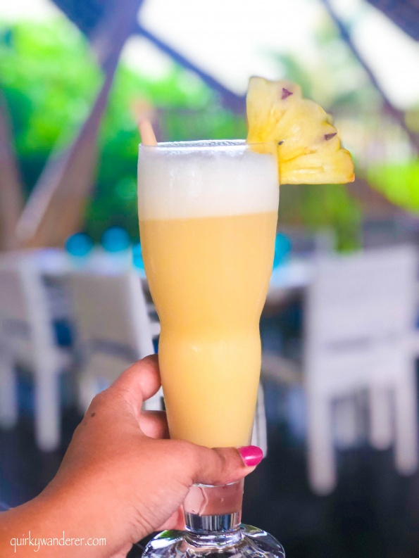 pineapple and coconut drink of Maldives