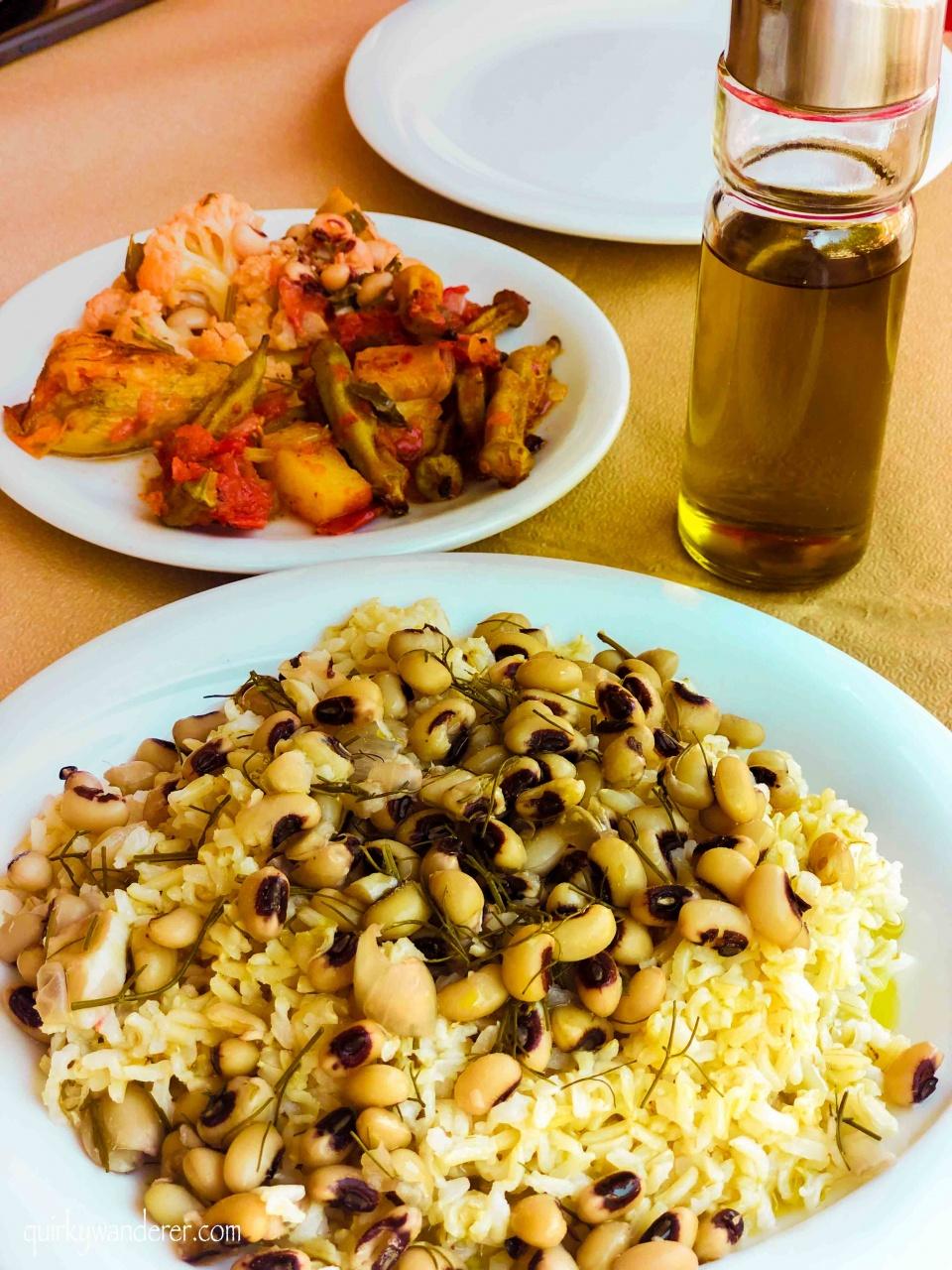 Vegetarian food in Chania Crete