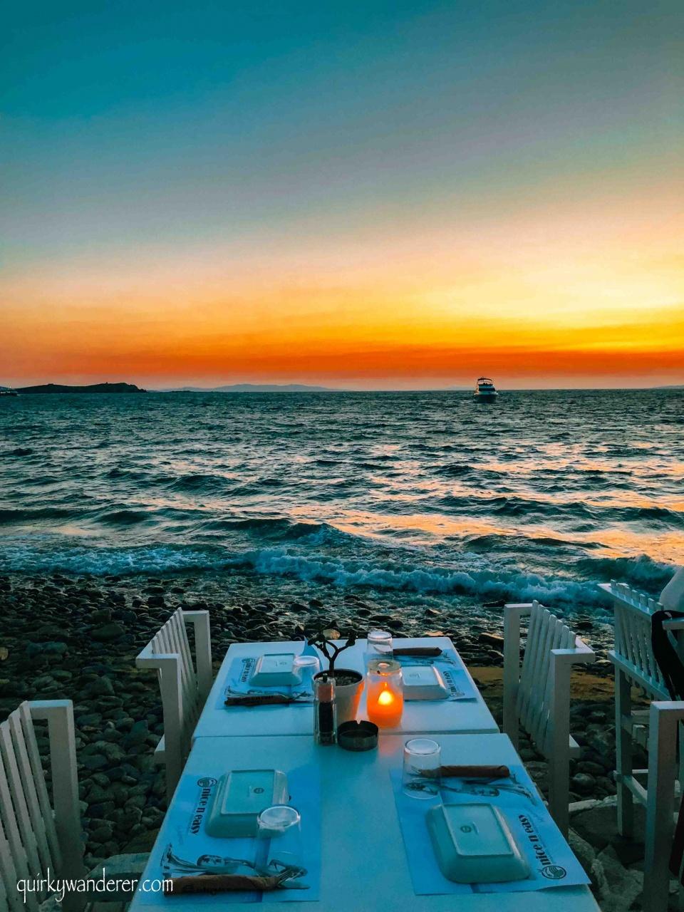 Restaurants with best views in Mykonos